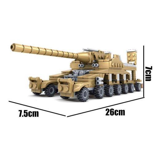 16 in 1 Mammoth Tank - 544 Pieces