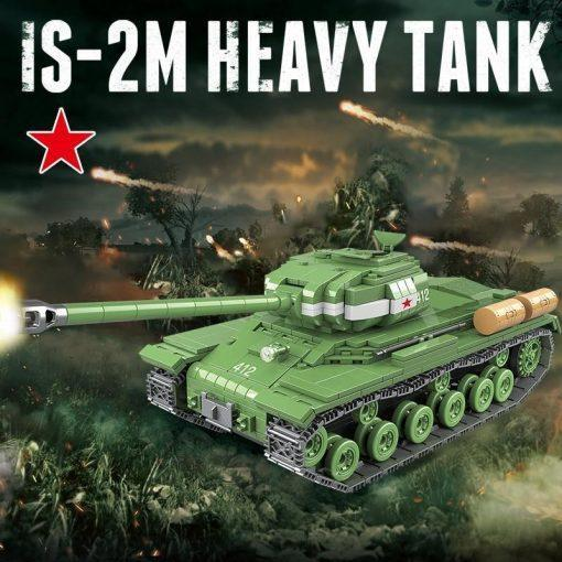 IS-2M Heavy Tank - 1068 Pieces + Weapons