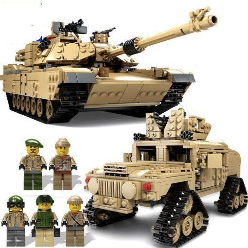 M1A2 Abrams Tank + Hummer 2 in 1 - 1463 Pieces