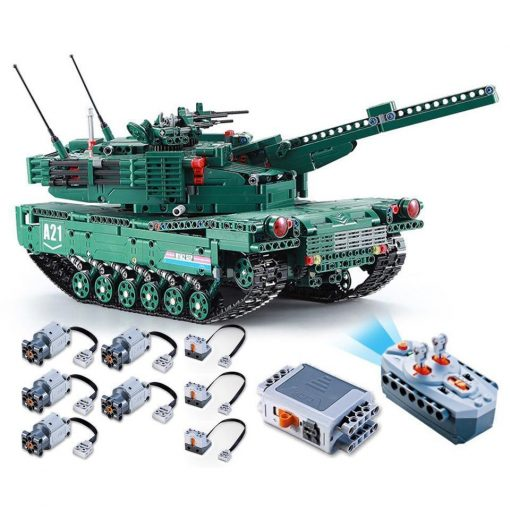 M1A2 Abrams Tank RC - 1498 Pieces With Controller