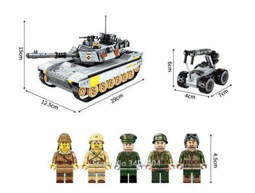 M24 Chaffee American Tank Playset - 482 Pieces
