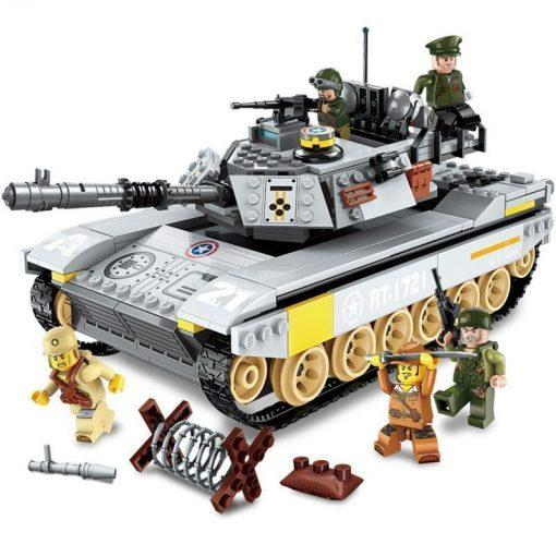 M24 Chaffee American Tank Playset - 482 Pieces