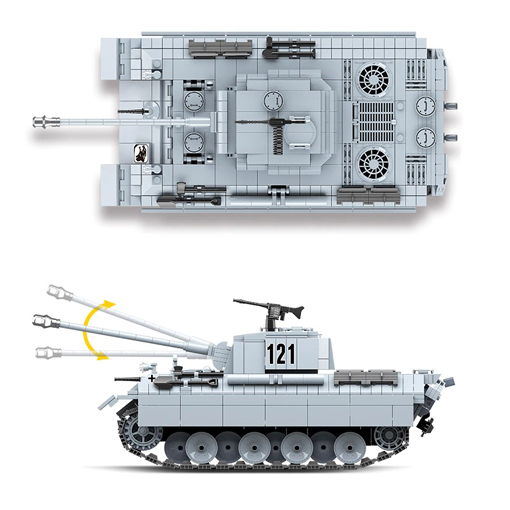 Panther Tank - 990 Pieces + Weapons