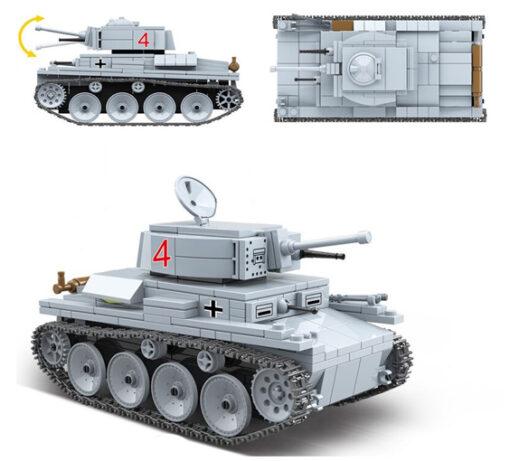 Panzerkampfwagen 38(t) (LT-38) German Light Tank - 535 Pieces + Weapons
