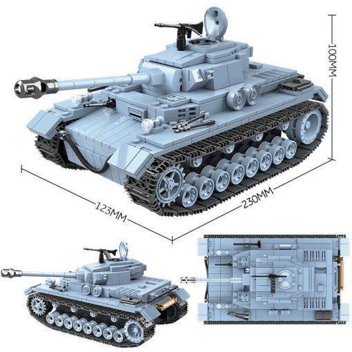 Panzerkampfwagen IV (PzKpfw IV) Tank - 716 Pieces + Weapons