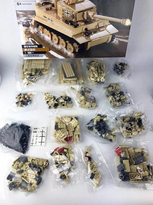 Pz.Kpfw. VI Tiger I German Tank - 995 Pieces