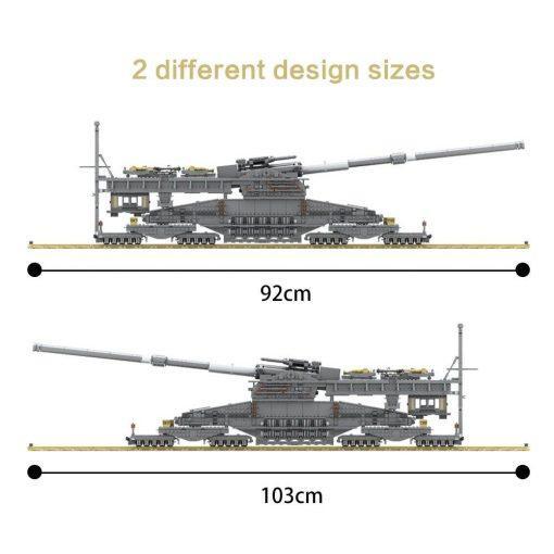 Schwerer Gustav German Railway Gun - 3846 Pieces