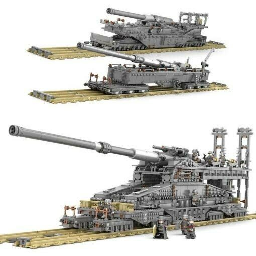 Schwerer Gustav German Railway Gun - 3846 Pieces