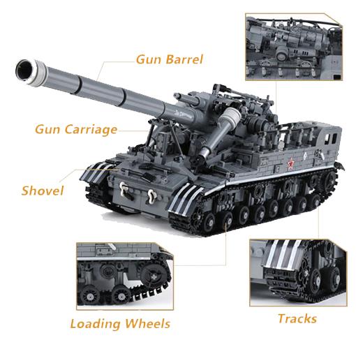 T92 Light Tank - 1832 Pieces