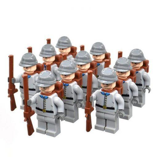 American Civil War South Confederacy Soldiers 10 Minifigures Pack + Weapons