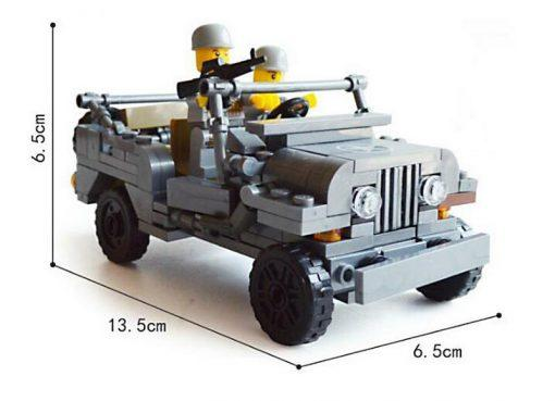 American World War 2 Jeep Willys MB - 199 Pieces
