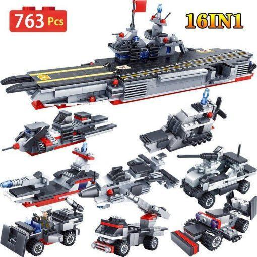 Military Aircraft Carrier 16in1 - 763 Pieces