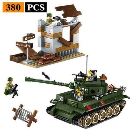 Military Base World War 2 Playset - 1484 Pieces