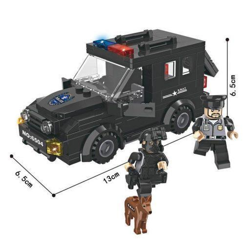 SWAT Jeep with 2 Soldiers & Dog -180 Pieces