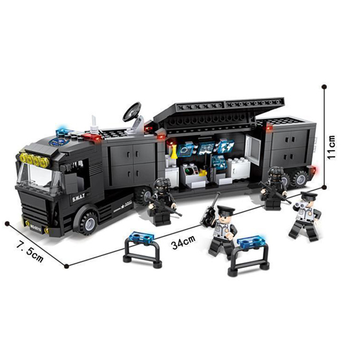 SWAT Mobile Command Сenter Truck - 437 Pieces