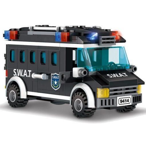 "SWAT Playset ""Raid On Terrorist Den"" with Van & Helicopter - 703 Pieces"