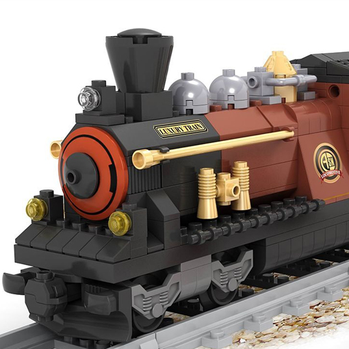 Steam Locomotive with Horses - 531 Pieces