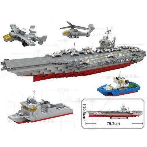 USS Kitty Hawk (CV-63) Supercarrier with Planes, Helicopters & Boats - 1868 Pieces