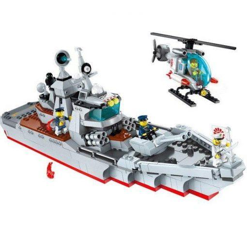 USS Military Destroyer Warship - 539 Pieces