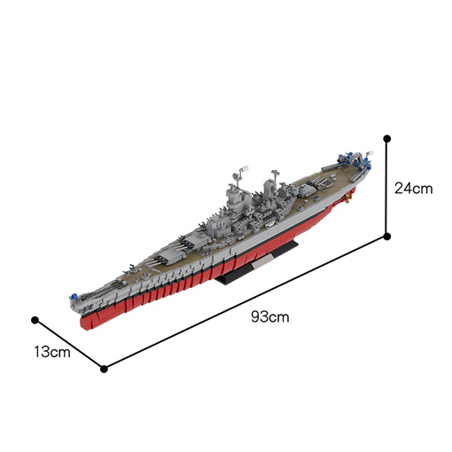 USS Missouri (BB-63) Battleship - 2631 Pieces