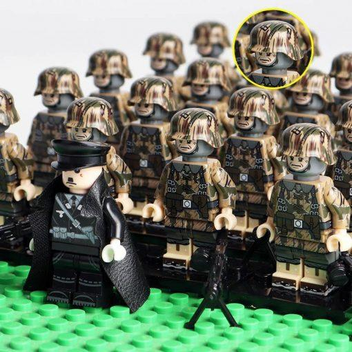 "WW2 German Soldiers Snipers Team ""The Battle Of Moscow"" 20 Minifigures Pack + Commander & Weapons"