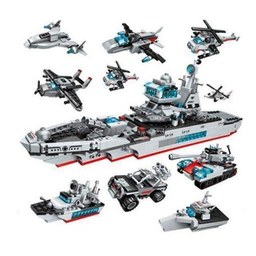 Warship Carrier 8in1 - 700 Pieces