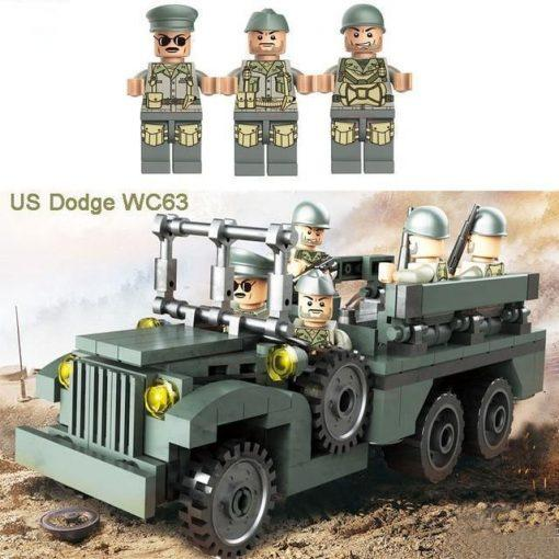 World War 2 Dodge WC63 Utility Truck with 3 Soldiers