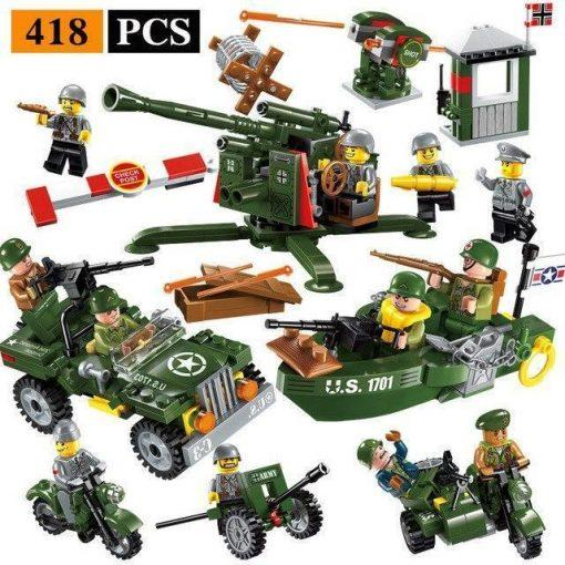 World War 2 Military Base Playset - 1045 Pieces